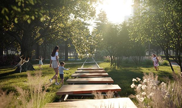 парк в ЖК Balance