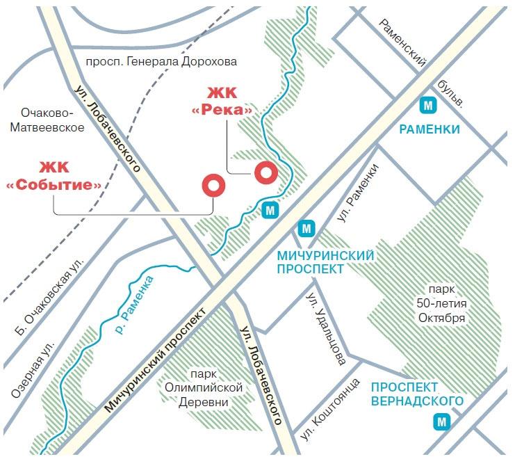 окрестности парка Событие
